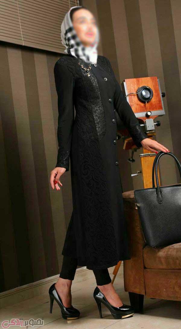 مدل مانتو مجلسی مشکی, مانتو بلند زنانه