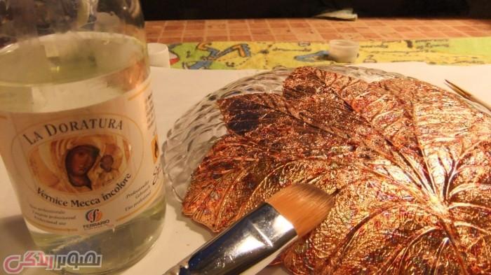 ویترای ورق طلا,تزیین ظروف بلوری