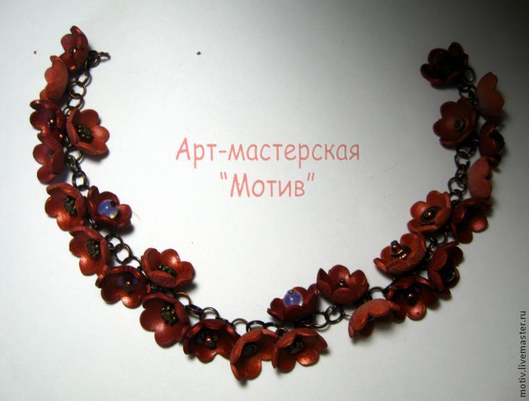ساخت گردنبند گل ,گردنبند خمیری ,زیورآلات