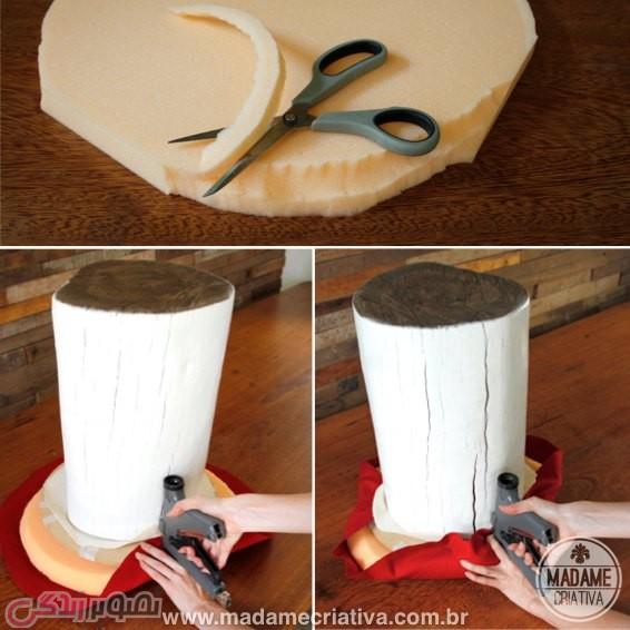 آموزش هنرهای دستی  , آموزش ساخت صندلی قارچی فانتزی و زیبا