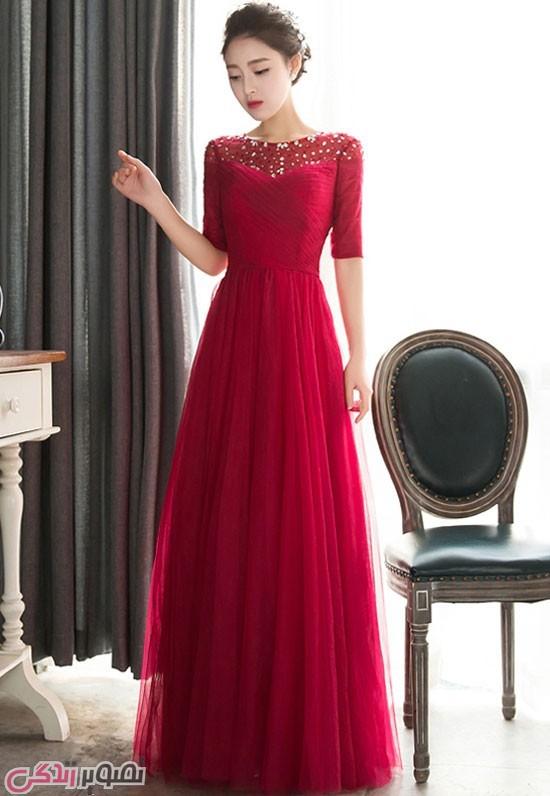 مدل لباس بلند مجلسی شیک زنانه