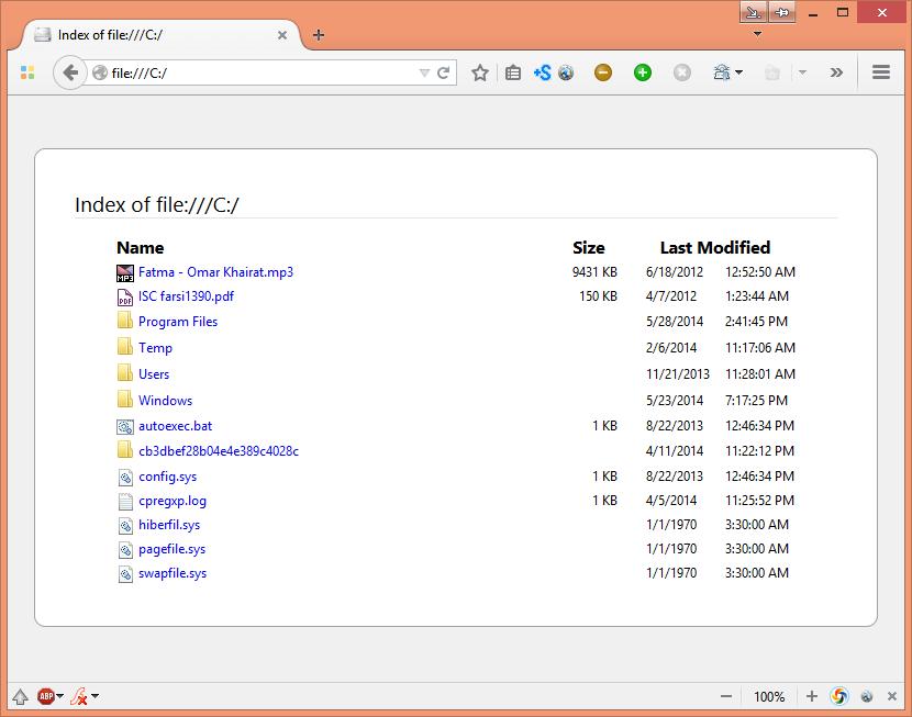 تهیه و چاپ لیست فایلها و پوشههای یک دایرکتوری
