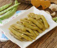 ترشی لوبیا سبز با سرکه سیب