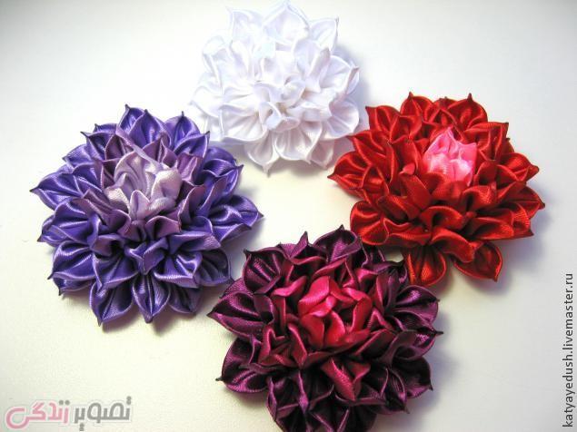 ساخت گل کوکب روبانی, ساخت گل با روبان