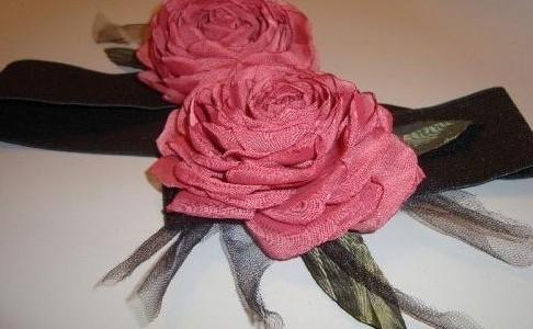 آموزش ساخت گل رز با تور ارگانزا