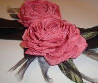 ساخت گل رز با تور ارگانزا, آموزش گلسازی