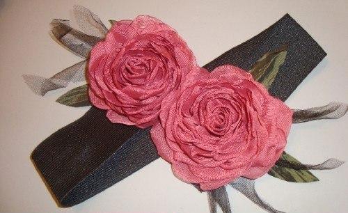 آموزش گل سازی  , آموزش ساخت گل رز با تور ارگانزا برای تزیین کش سر