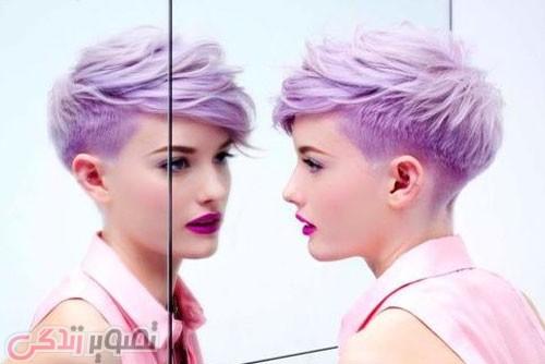 مانتو به رنگ استخوانی مدل موی فشن کوتاه زیبا و دخترانه • مجله تصویر زندگی
