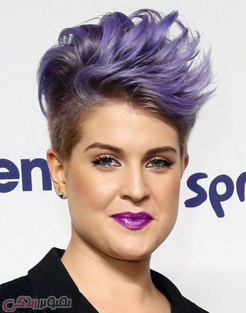 مدل موی فشن کوتاه, رنگ موی یاسی
