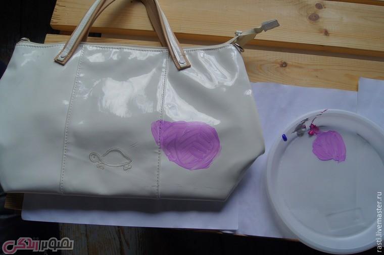 تزیین کیف چرم, نقاشی روی چرم