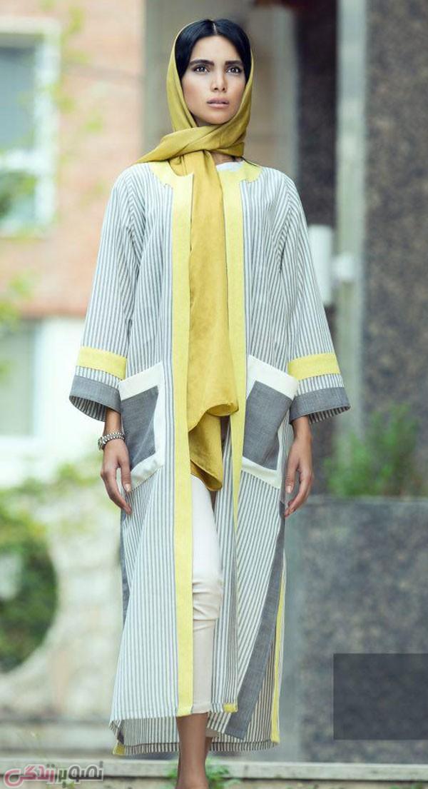 عکس مدل مانتو با جیب رو, عکس مدل مانتو آستین کیمونو