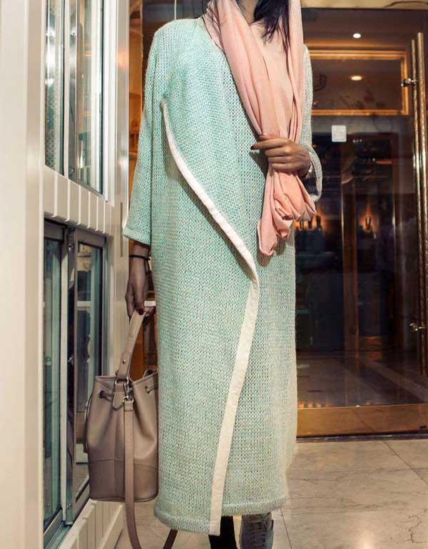 مدل مانتو پاییزی جلو باز, عکس مانتو آستین کیمونو