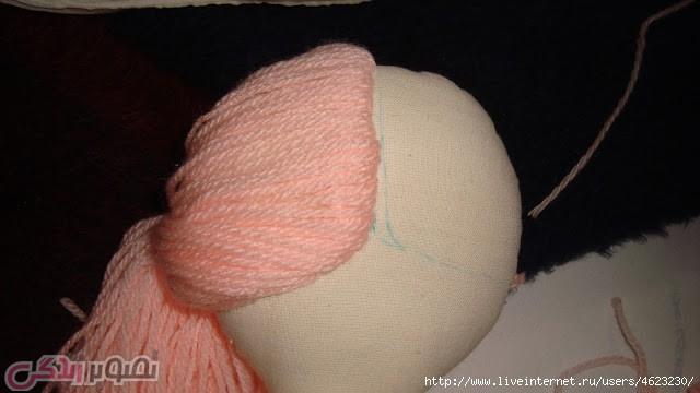 عروسک تیلدا, درست کردن موی عروسک