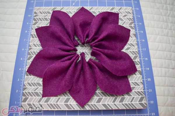 3D Felt Flower Wall Art DIY Tutorial s (7)