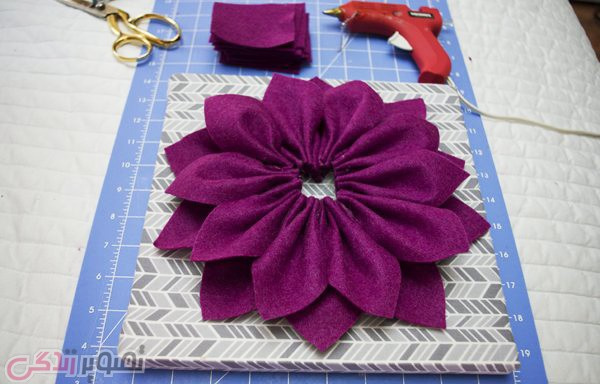 3D Felt Flower Wall Art DIY Tutorial s (8)