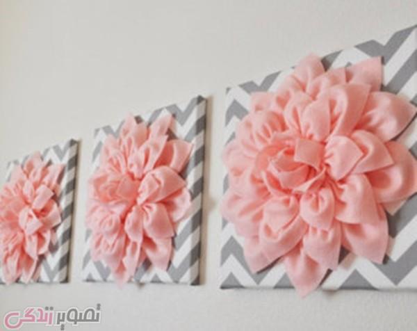 ساخت قاب تزیینی, گل نمدی, دیوار کوب سه بعدی