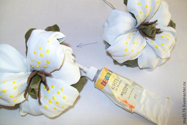 ساخت گل لیلیوم چرمی, ساخت گل چرم