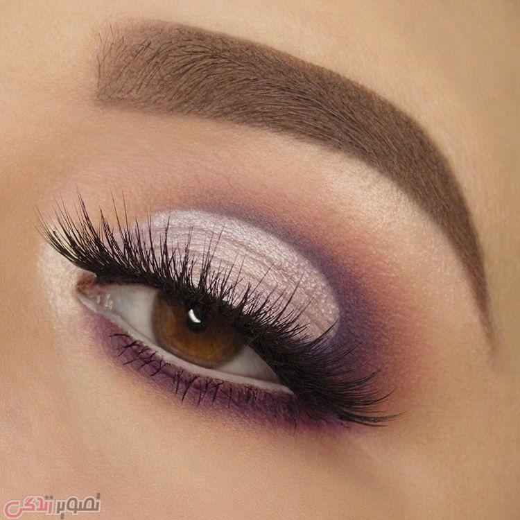 مدل آرایش چشمهای قهوه ای ,مدل سایه چشم,میکاپ چشم