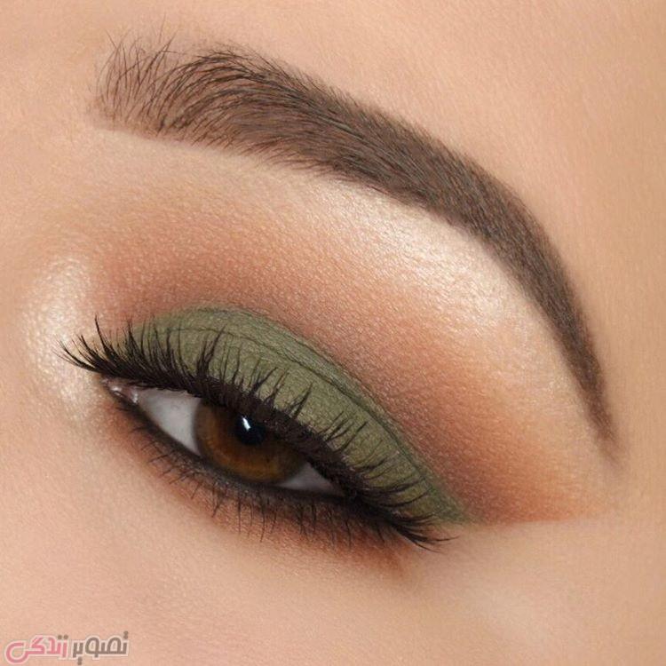 سایه چشم سبز, مدل آرایش چشم های قهوه ای
