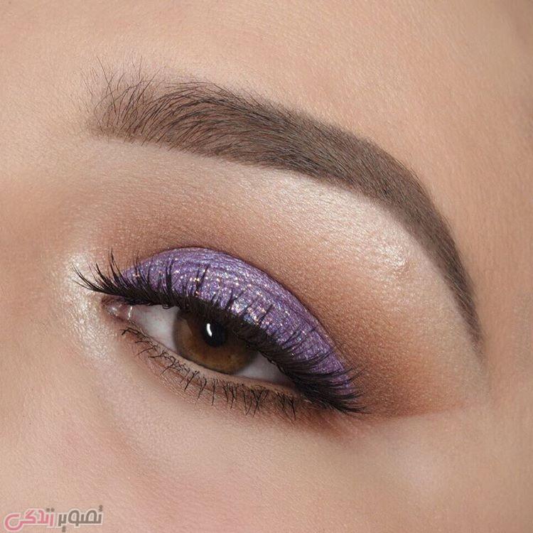 سایه چشم یاسی, مدل آرایش چشم های قهوه ای