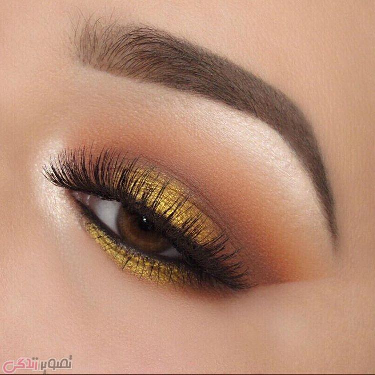 سایه چشم طلایی, مدل آرایش چشم های قهوه ای