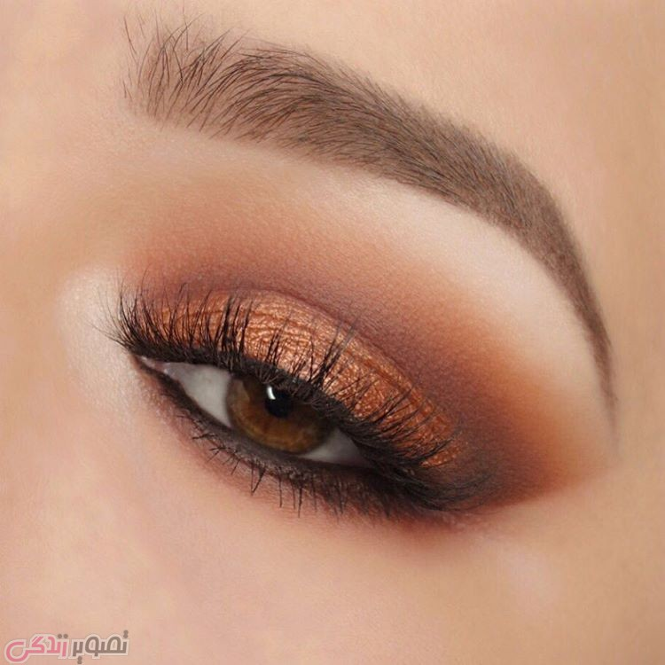 مدل آرایش چشم قهوه ای ,مدل سایه چشم,میکاپ چشم