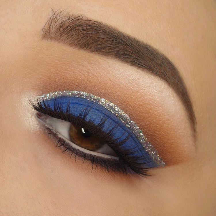 سایه چشم آبی, مدل آرایش چشم های قهوه ای