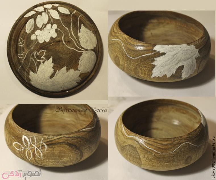 تزیین ظرف چوبی, نقاشی روی چوب