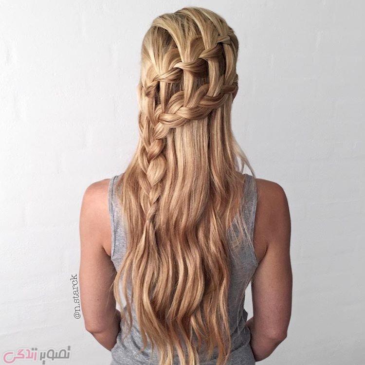 مدل بافت آبشاری جدید, مدل موی دخترانه
