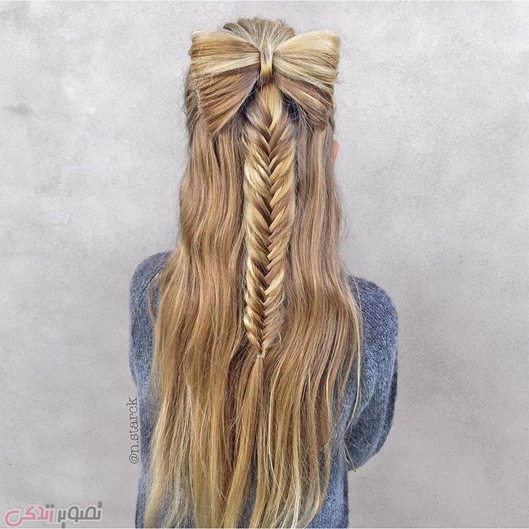مدل موی پاپیونی , بافت موی بلند