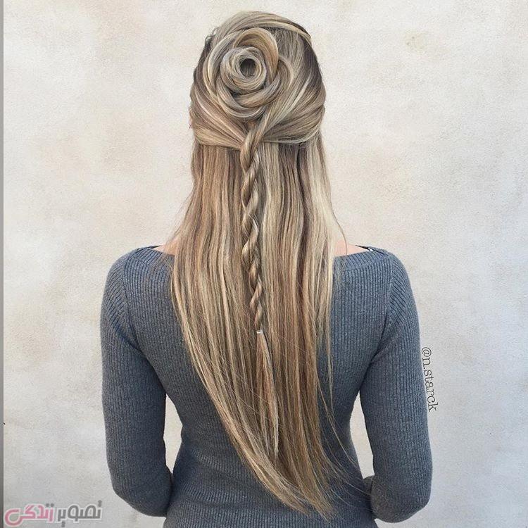مدل موی دخترانه, بافت موی بلند