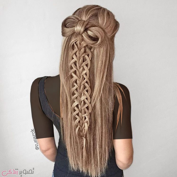 بافت و شینیون موی بلند