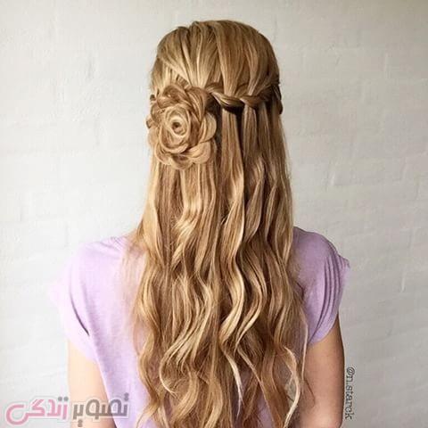 مدل بافت آبشاری یکطرفه, مدل موی دخترانه