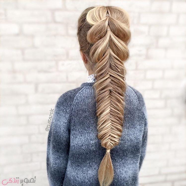 مدل بافت موی بلند,آرایش موی دخترانه