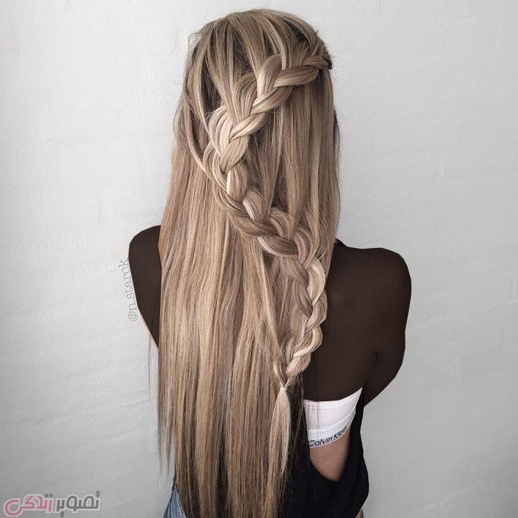 مدل بافت و شینیون مو, مدل موی دخترانه