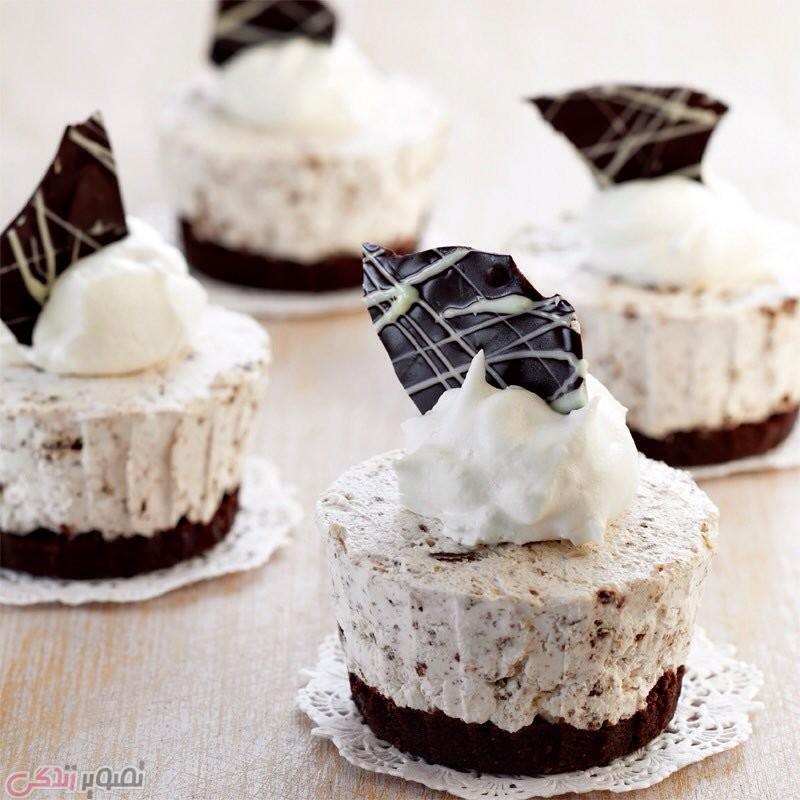 چیز کیک کوچک بیسکویتی