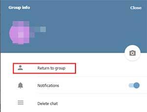 مراحل بازگشت به گروه های خارج شده در تلگرام