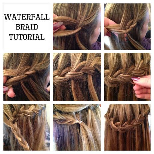 آموزش بافت مو مدل آبشاری