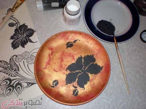 آموزش هنرهای دستی  , آموزش نقاشی برجسته روی ظرف سفالی