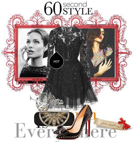 ست کردن لباس شب آنجلینا جولی, مدل ست های لباس شب آنجلینا جولی