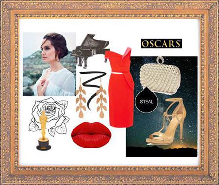 مدل ست های لباس شب آنجلینا جولی, ست کردن لباس شب آنجلینا جولی