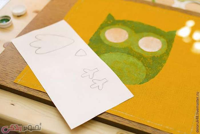 آموزش نقاشی روی پارچه, نقاشی روی کوسن