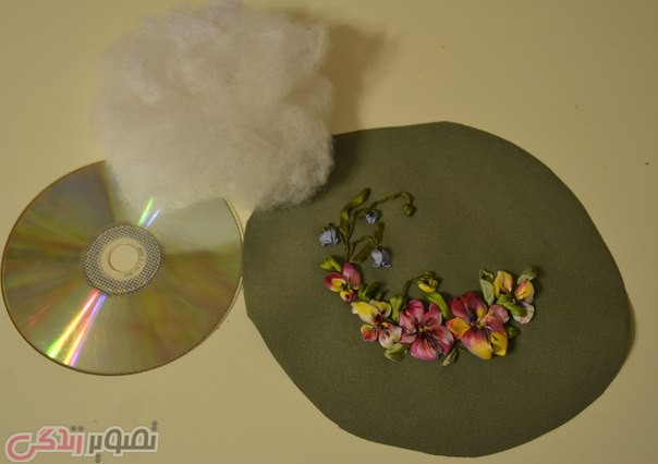 ساخت آویز تزیینی با سی دی, ساخت جاسوزنی, بازیافت سی دی