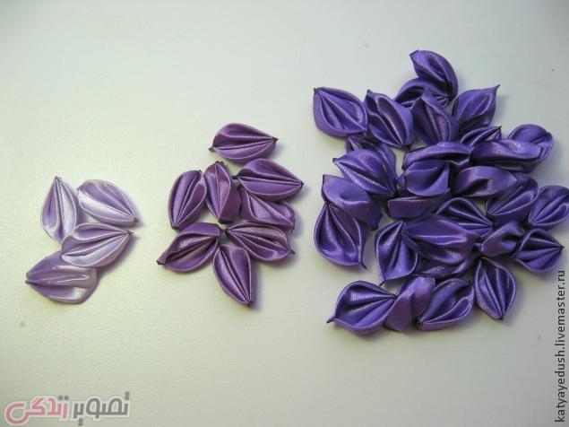آموزش گلسازی, سات گل کوکب با روبان