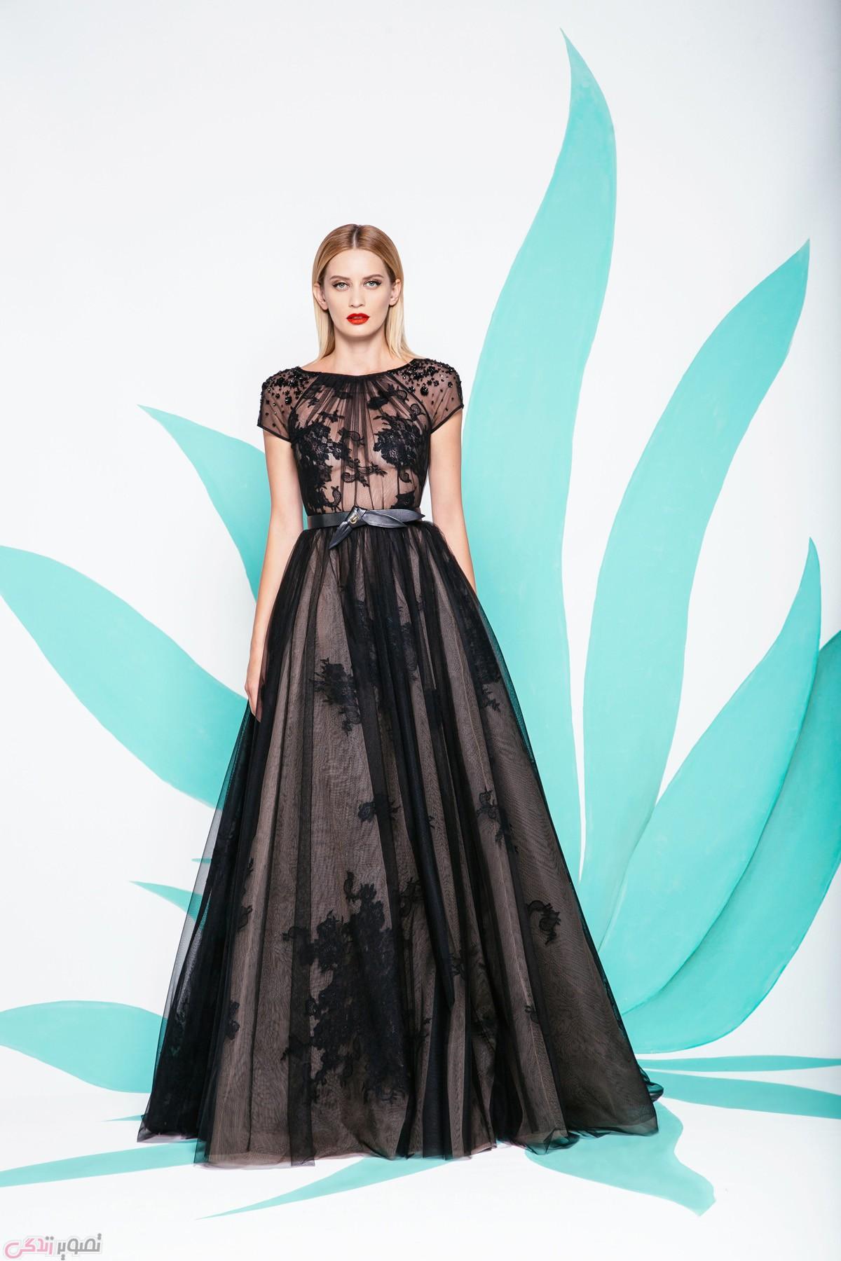 مدل لباس شب مخمل 2017 عکس مدل لباس مجلسی 2017 برند ralph&russo | مدل لباس شب ...