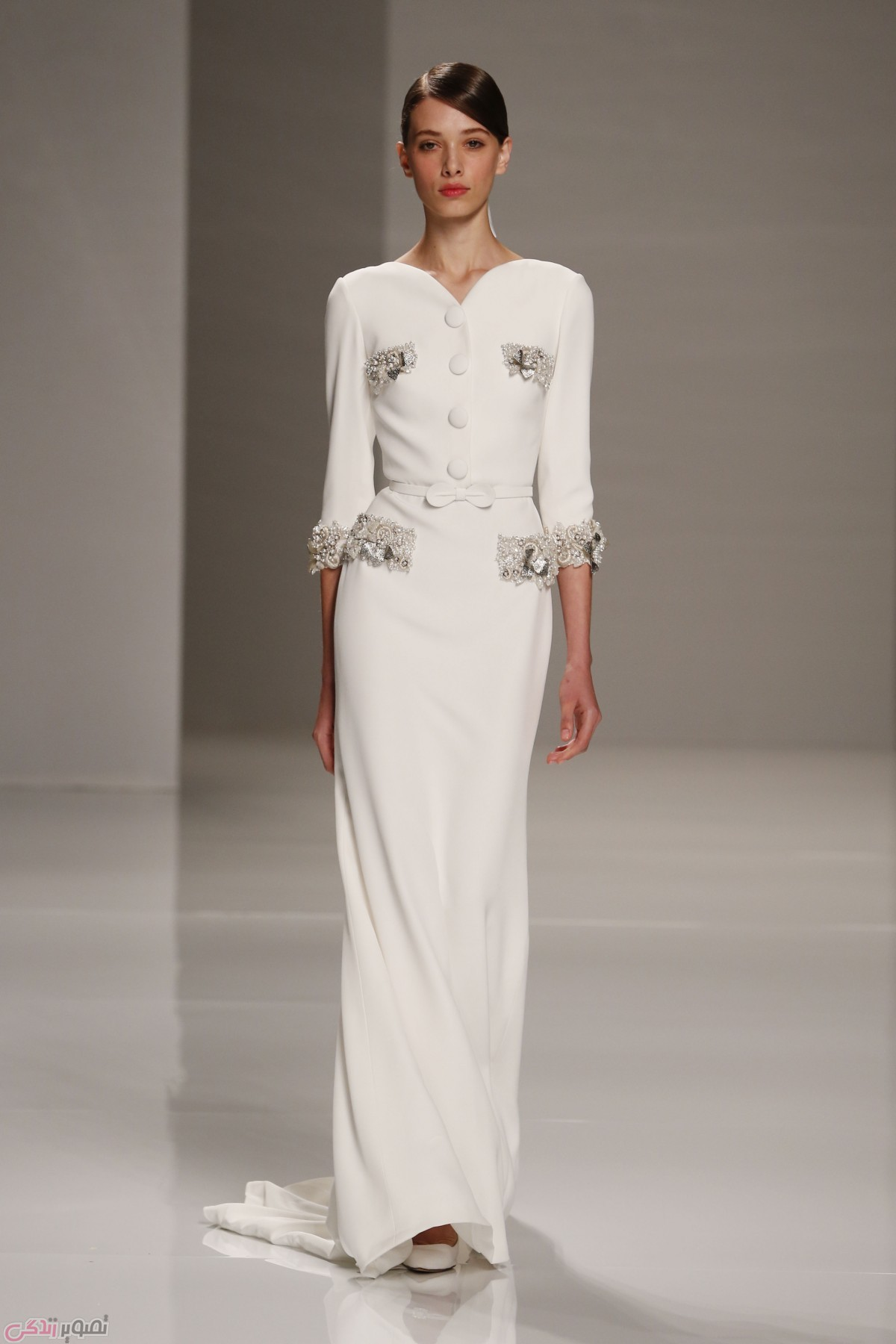 پیراهن سفید مجلسی , لباس مجلسی شیک
