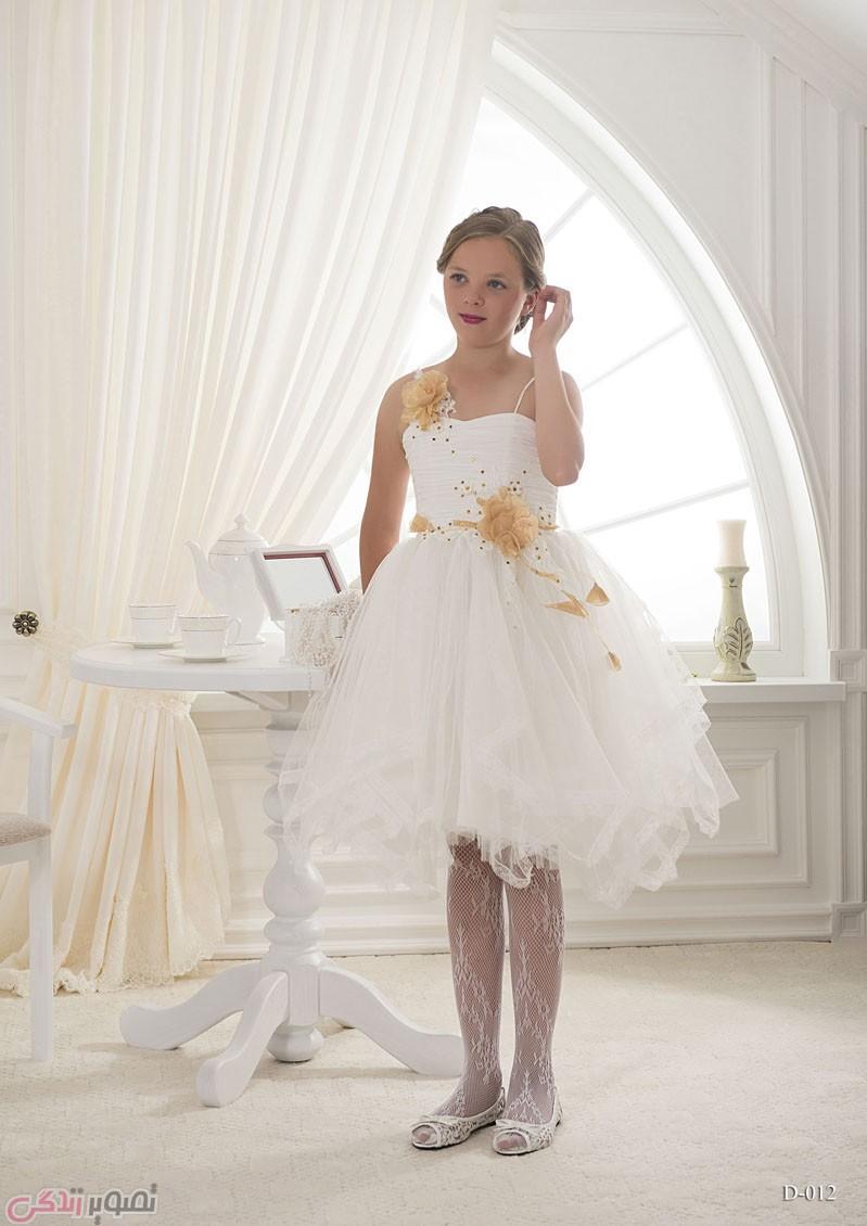 مدل لباس مجلسی بچه گانه,پیراهن حریر دخترانه, پیراهن عروس بچه گانه