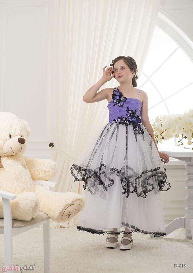 مدل لباس مجلسی بچه گانه,پیراهن مجلسی حریر دخترانه