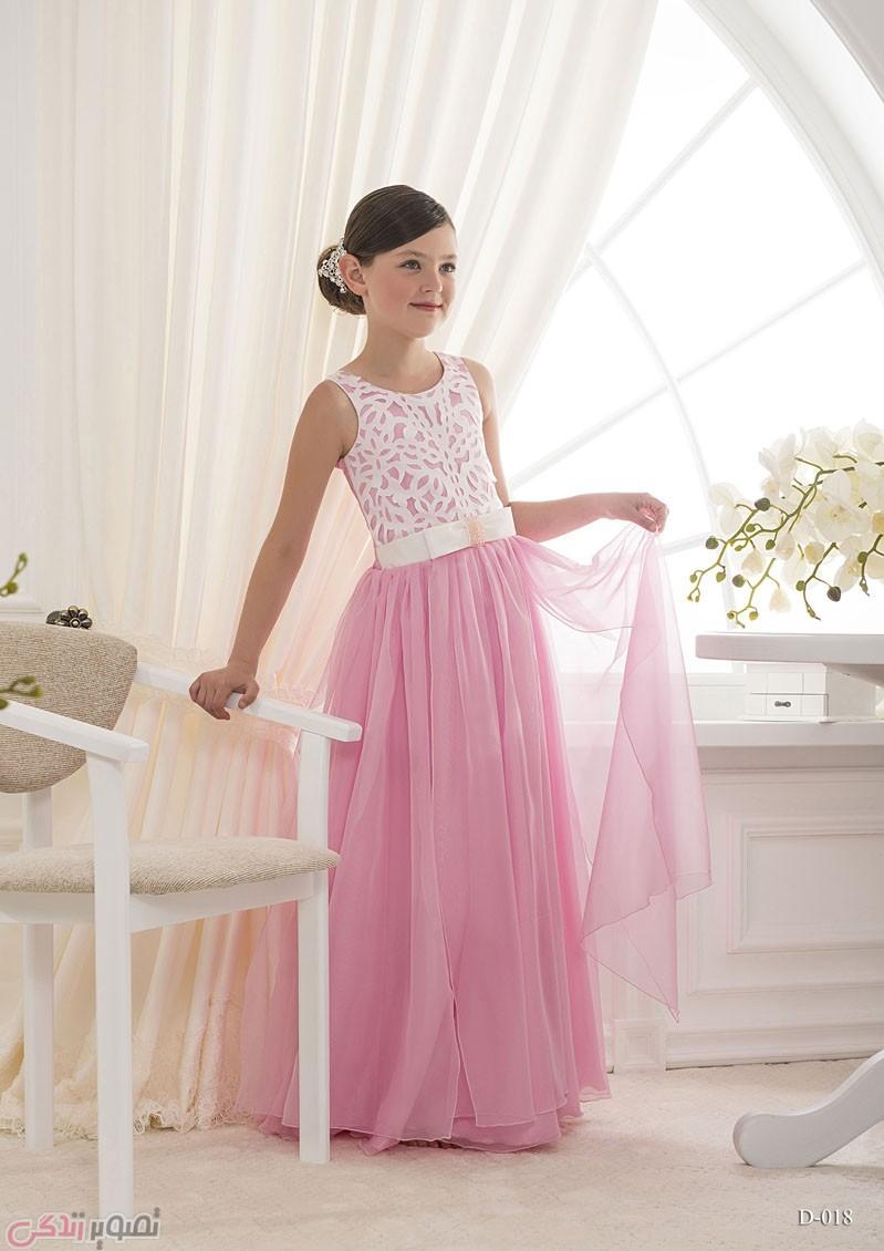 مدل لباس مجلسی بچه گانه,پیراهن مجلسی صورتی دخترانه