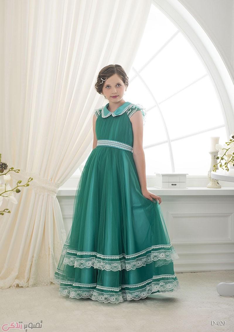 مدل لباس مجلسی بچه گانه,پیراهن ساتن مجلسی دخترانه